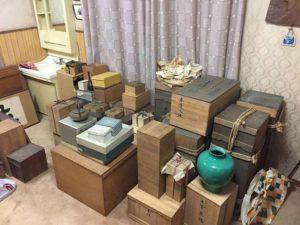 大樋焼茶碗・九谷焼・鉄瓶・漆器・中国銅器・茶道具