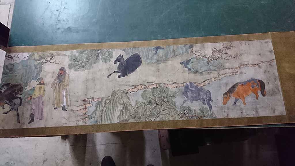 マルミ工藝社_絵画買取_中国明時代 巻物(宋時代の古画の模写)