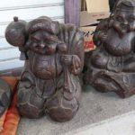 明治時代初期 木彫恵比寿大黒像