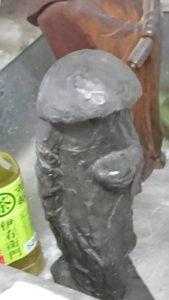 銀製の上人像